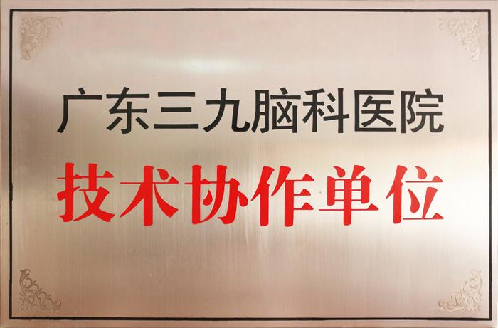 广东三九脑壳医院 技术协作单位