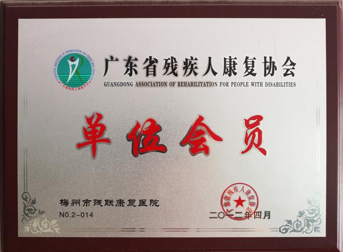 广东省残疾人康复协会 单位会员